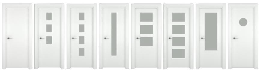 B2 Cerramientos puertas-aluminio-interior